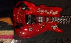 10 Globo Guitarra Inflables. Cumpleaños