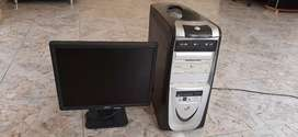 Torre y monitor acer