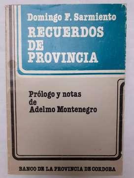 Recuerdo de provincia  Domingo Fautino Sarmiento Adolf Montenegro