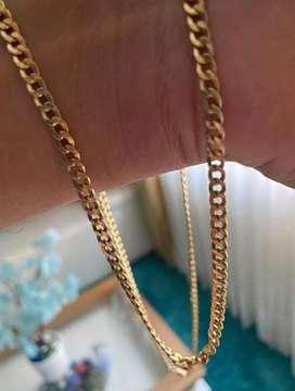 Cadena oro italiano tejido cubana