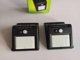 Luz Led, Exteriores, Sensor Movimiento, Panel Solar