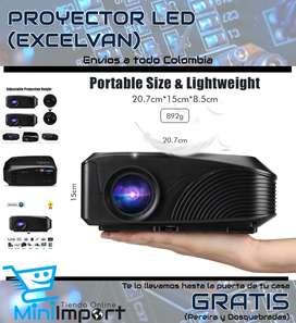 Proyector portátil excelvan LED4018 1200 lúmenes 800*480 Max 1080P Rojo-Azul 3D con HDMI USB VGA AV TF