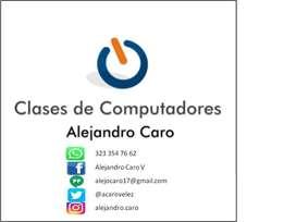 Servicio a domicilio o virtual para clases de computadores