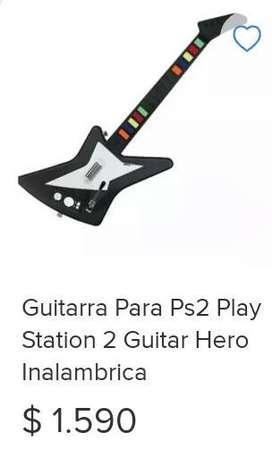 Vendo alfombra de baile y guitarra para play 2.