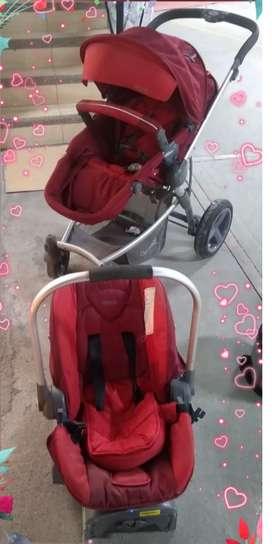 coche bebé y silla de bebé para carro