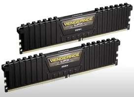 Memoria ram corsair vengance lpx usada 2*4 a 2400Mhz