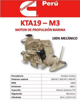 MOTOR KTA19 -600HP NUEVO MARINO CUMMINS