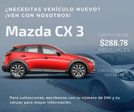 Mazda cx3, 2 sedan y 3 sedan
