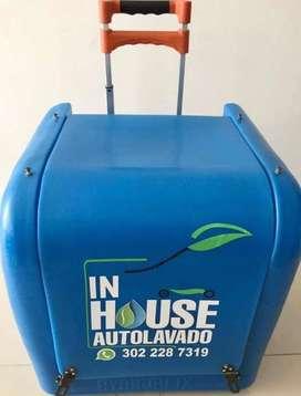 Hidrolavadora ecológica de vehículos con accesorios