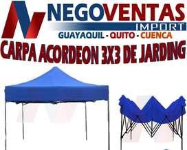 CARPA ACORDEON 3X3 , CARPA PLEGABLE 3X3