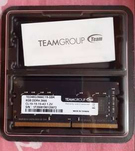 Memoria RAM para laptop 8GB 2666mhz