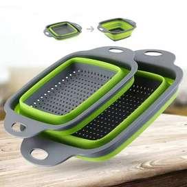 Colador de silicona plegable para cocina