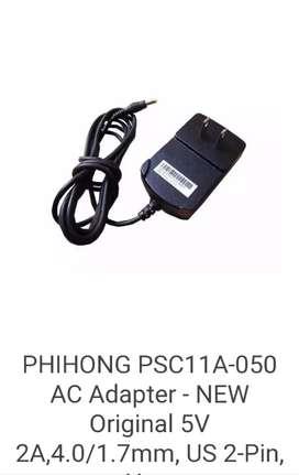 Cargador Hp Phihong punta Amarilla 5V 2.0A.Model.PSC11A-050