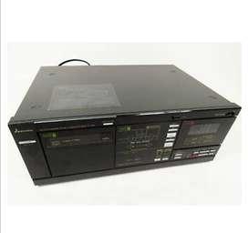 MITSUBISHI DT-156 7 Cassette cinta cubierta de cambiador automático Auto Reverse Dolby Vintage