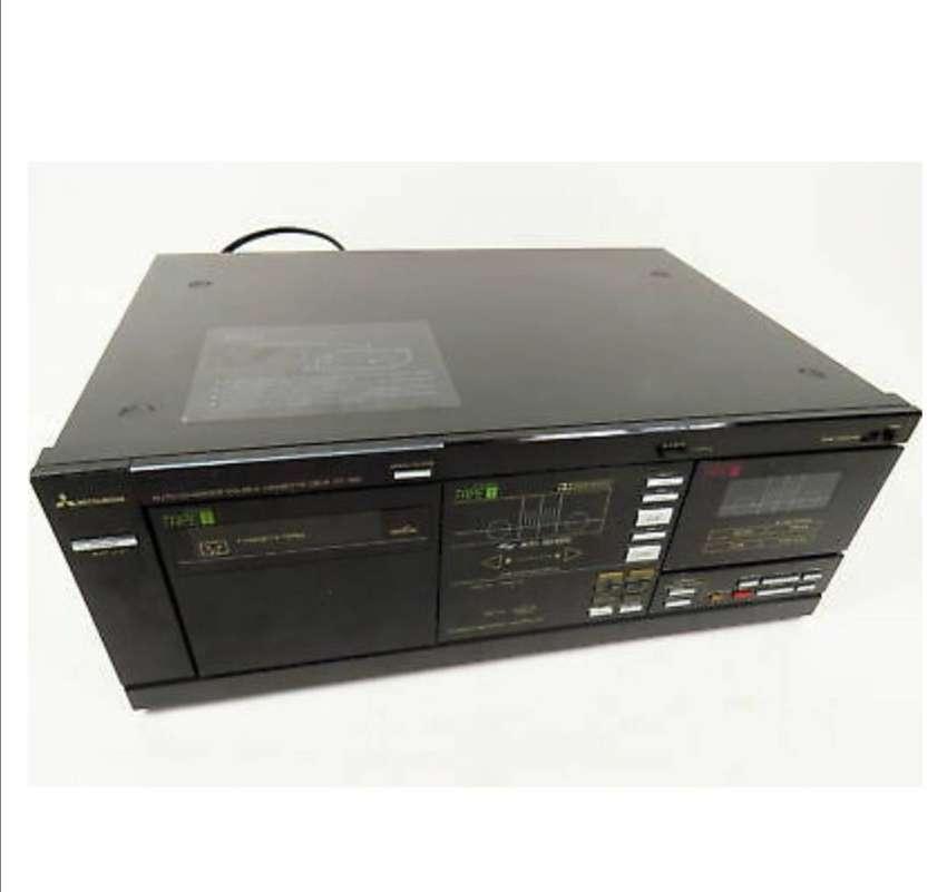 MITSUBISHI DT-156 7 Cassette cinta cubierta de cambiador automático Auto Reverse Dolby Vintage 0