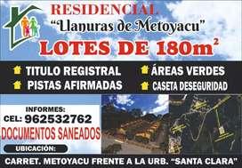 """RESIDENCIAL """"LLANURAS DE METOYACU"""""""
