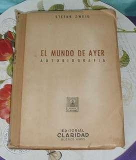 Libro El mundo de ayer zweig