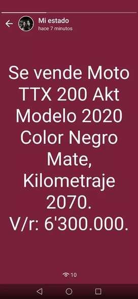 Vendo moto TTX200 6'300.000