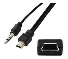 Cable Adaptador Mini Usb V3 A Auxilia 3.5mm Datos Carga iPod