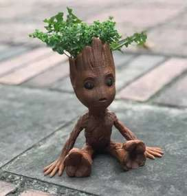 Baby Groot Mini Matera Maceta Guardianes De La Galaxia 15cm