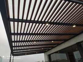 Realizamos techos sol y sombra, drywall, estaciones de parrillas