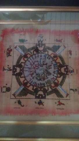 Obra de Arte Papiro Signos Zodiaco Hermo