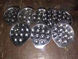8 provoleteras, porta muzzarelas, de una docena cada una. bandejas resistentes