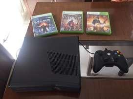 Xbox 360 original - 1 control - 3 juegos fisicos -