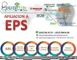 AFILIACIÓN ARL EPS MEDICINA PREPAGADA Y SEGUROS DE VIDA