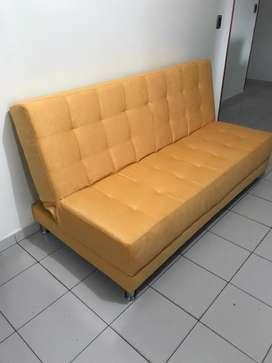 Vendo hermoso sofa cama de tres posiciones nuevo para estrenar