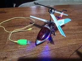 Helicoptero radio control metal batería usb giroscopo 3,5 ch 2 vel