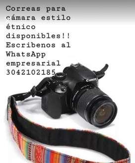 Correas etnicas para camara fotografica