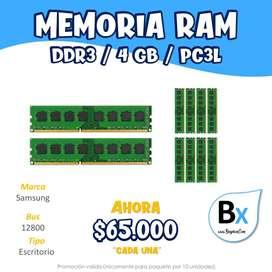 MEMORIA RAM DDR3 4GB PCL