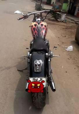 Se vende moto chopper modificada Kawasaki 550 cc