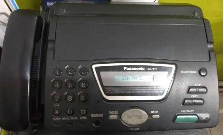 TELEFONO FAX PANASONIC KX-FT71 altavoz