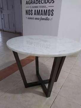 Mesa ratona de Mármol Carrara
