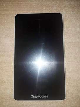 """Tablet Eurocase 9"""" excelente estado con detalle."""