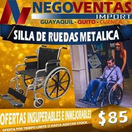 SILLA DE RUEDAS METALICA