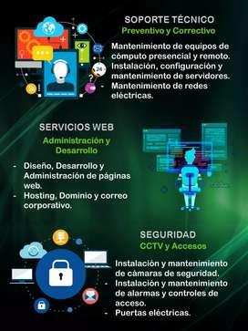 Servicios de seguridad electrónica. Cámaras de seguridad, alarmas, control de acceso. Etc