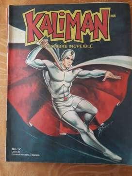 Revista antigua de KALIMÁN EL HOMBRE INCREIBLE .# 17 DE la aventura LOS MISTERIOS DE BONAMPAK