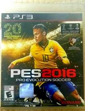 PES 2016 (juego físico original) PS3