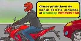 Clases de manejo de moto lineal