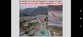 Vendo un lote de terreno a media cuadra bajando la cruz verde en Bambamarca (6x36.5)