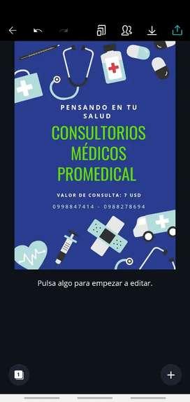 Médico extranjero para atención en consultorio médico