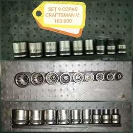 Set copas craftsman 9 piezas