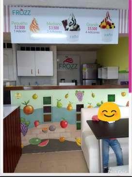 Se vende heladería de yogurt