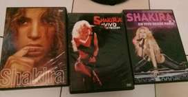 Vendo 3 DVD de Shakira incluye CD