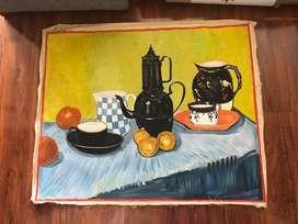 Pintura Lienzo Homenaje A Vincent Van Gogh.