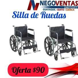 SILLA DE RUEDAS METALICA PLEGABLE