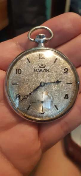 Reloj de bolsillo antiguo marca marvin a cuerda